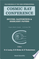 Cosmic Ray Conference  Invited  Rapporteur And Highlight Papers   Proceedings Of The Xxiii International