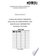 Large-deviation Theorems for Sums of Independent and Identically Distributed Random Vectors