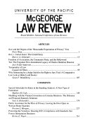 McGeorge Law Review Book