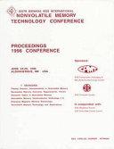Sixth Biennial IEEE International Nonvolatile Memory Technology Conference Book