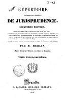 Répertoire universel et raisonné de jurisprudence
