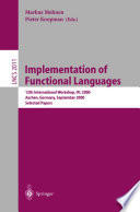 Implementation of Functional Languages Book PDF