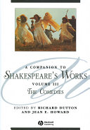 A Companion to Shakespeare s Works  Volume III