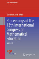 Proceedings of the 13th International Congress on Mathematical Education Pdf/ePub eBook