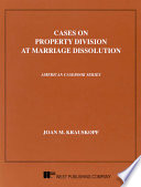 Cases on property division at marriage dissolution