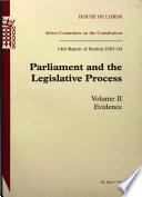Parliament And The Legislative Process