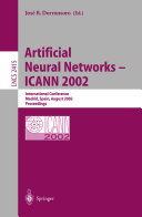 Artificial Neural Networks     ICANN 2002