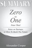 Pdf Summary of Zero to One Telecharger