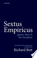 Sextus Empiricus  Against Those in the Disciplines