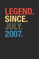 Legend Since July 2007
