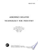 Aerospace Related Technology for Industry Book