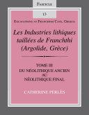 Pdf Les Industries lithiques taillées de Franchthi (Argolide, Grèce), Volume 3 Telecharger
