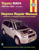 Toyota RAV4 Automotive Repair Manual