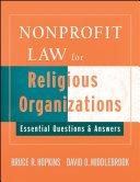 Nonprofit Law for Religious Organizations Pdf/ePub eBook