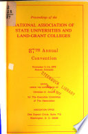 Proceedings of the National Association of State Universities and Land-Grant Colleges ... Annual Convention
