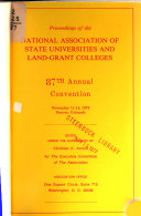 Proceedings of the National Association of State Universities and Land Grant Colleges     Annual Convention