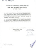Institutional Meat Purchase Specifications for Cured  Dried  and Smoked Beef Products Approved by USDA
