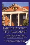 Indigenizing The Academy