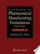 Handbook of Pharmaceutical Manufacturing Formulations Book