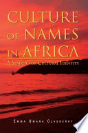 CULTURE OF NAMES IN AFRICA