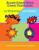 Blank Comic Book Comic Templates Book