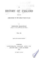 A History of England from the Conclusion of the Great War in 1815 Book