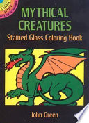 Mythical Creatures Stained Glass Coloring Book