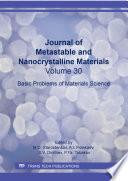 Journal of Metastable and Nanocrystalline Materials