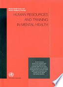 Human Resources And Training In Mental Health Book PDF