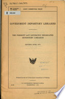 Government Depository Libraries