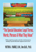 Special Education Legal Terms  Words and Phrases