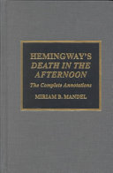 Hemingway's Death in the Afternoon