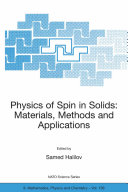 Physics of Spin in Solids: Materials, Methods and Applications Book