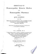 Essentials of Homoeopathic Materia Medica and Homoeopathic Pharmacy
