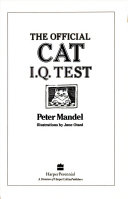 The Official Cat I Q  Test