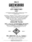 Hill s Greensboro  Guilford County  N C   City Directory  Including Guilford College