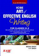 Pdf ICSE Art of Effective English Writing for Classes IX-X (2021 Edition)