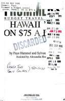 Frommer's Guide to Hawaii On 75 Dollars a Day