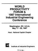 World Productivity Forum       International Industrial Engineering Conference