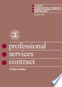 Guidance Notes And Flow Charts For The Professional Services Contract Book PDF