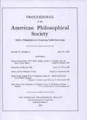 Pdf Proceedings, American Philosophical Society (vol. 97, no. 3) Telecharger