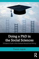 Doing a PhD in the Social Sciences