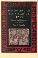Schooling in Renaissance Italy