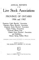 Annual Reports Of The Live Stock Associations Of The Province Of Ontario