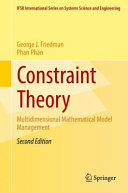 Cover image of Constraint Theory : Multidimensional Mathematical Model Management