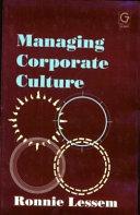 Managing Corporate Culture