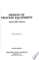 Design of Process Equipment
