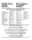 Canadian Journal of Forest Research