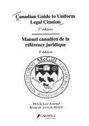 Canadian Guide to Uniform Legal Citation Book
