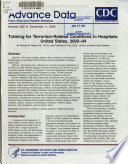 Training for Terrorism-related Conditions in Hospitals, United States, 2003-04
